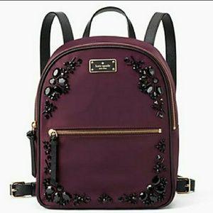 NWT Kate Spade Small Bradley Embellished Backpack